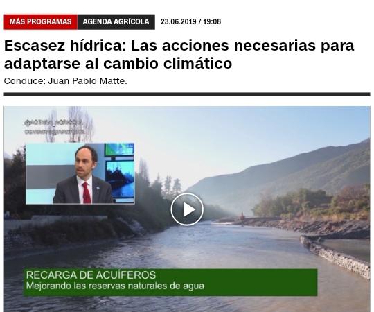 AGENDA AGRÍCOLA  Escasez hídrica: Las acciones necesarias para adaptarse al cambio climático