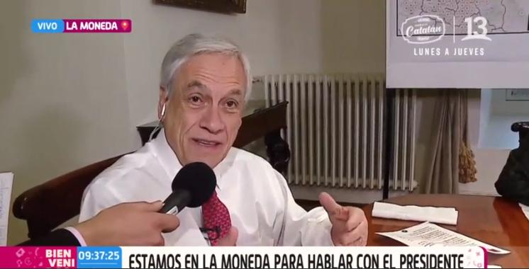 Presidente Piñera nos habló sobre el plan para combatir la situación hídrica del país