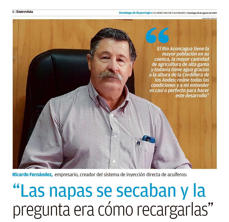 Entrevista en Domingo de reportaje en El Mercurio de Valparaíso a nuestro Presidente